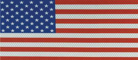 American Flag Decal, Reflect, 14x7.75