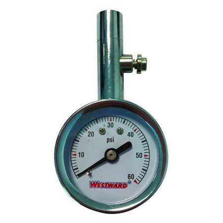 Dial Tire Press Gauge, 0 to 60 psi