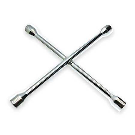 Lug Nut Wrench, 4 Way, L 14 In