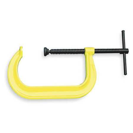 "C-Clamp, 4"", Steel, Regular Duty, 6200 lb."