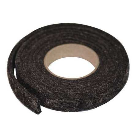 Felt Strip, F26N, 1/2 In T, 1 1/2 x 120 In