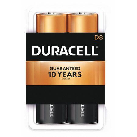 Duracell CopperTop Alkaline D Battery, 8PK