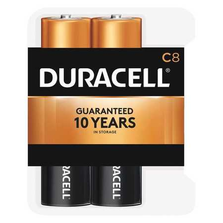 DURACELL Alkaline C Batteries,  8 Pack