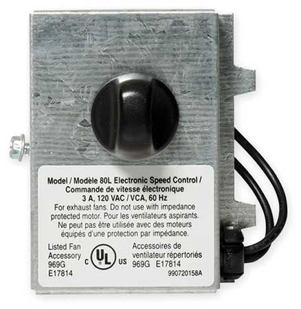 Adj Speed Control, Unit Mount, 120 V