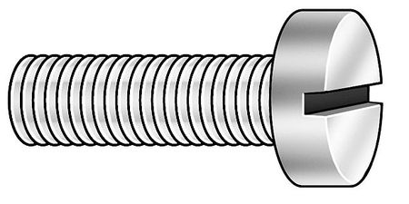 "#8-32 x 1/2"" Fillister Head Slotted Machine Screw,  100 pk."