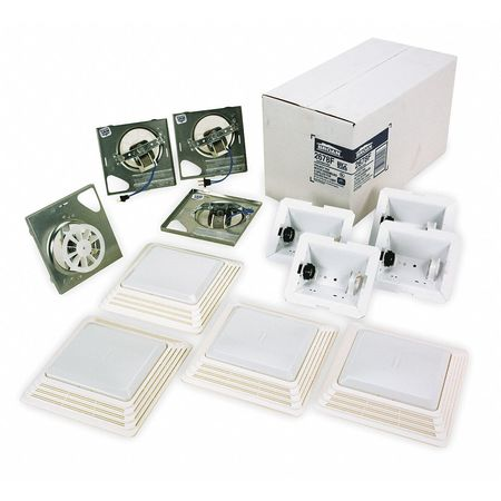Bathroom Fan Finish Kit, 50 CFM, 1.6A, PK4