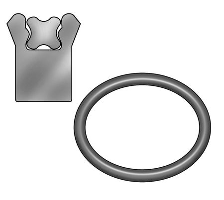 Rod Seal, 5 1/2 IDx6 1/2 OD, 1/2 Wx3/4 H