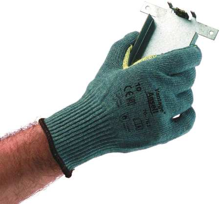 Cut Resistant Gloves, Green, XL, PR