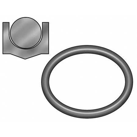Piston Seal, 3/4 ID x 1 OD, 1/8 W x 1/8 H
