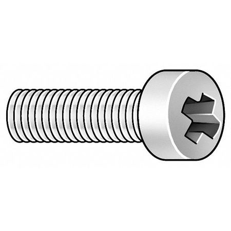 "#10-24 x 1/2"" Fillister Head Phillips Machine Screw,  500 pk."