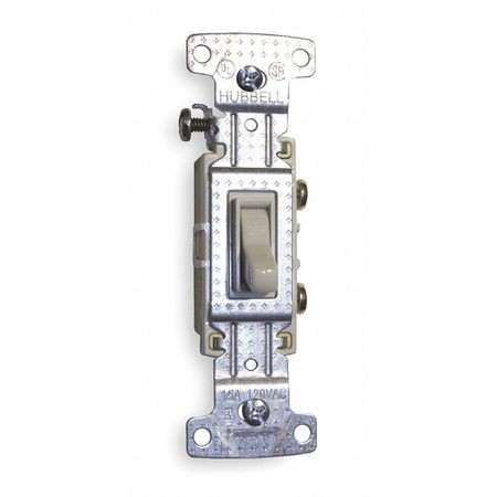 Wall Switch, 3-Way, 120V, 15A, Ivory, Toggle