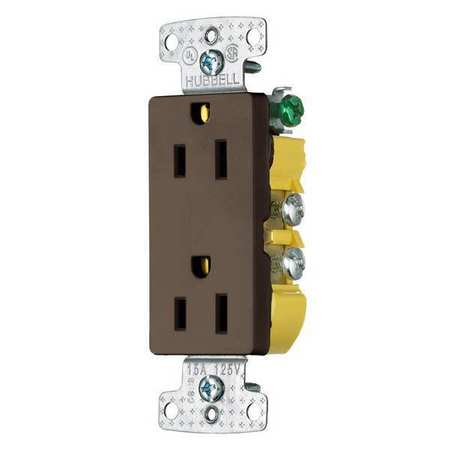 15A Duplex Decorator Receptacle 125VAC 5-15R BN