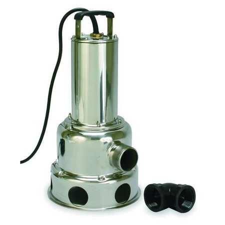 """1 HP 2"""" Manual Submersible Sewage Pump 230V"""