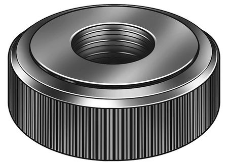 Lock Nut, 1/2-13, Steel, Black Oxide