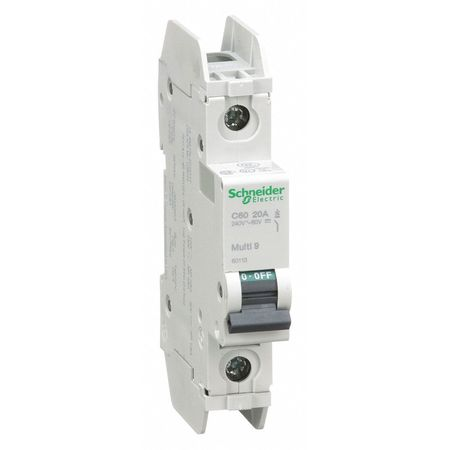 1P Miniature Circuit Breaker 20A 120/240VAC