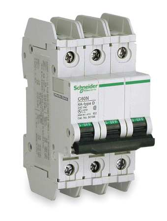 3P Miniature Circuit Breaker 20A 120/240VAC