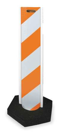 Barricade, Orange/White, 48 In. H, 3 In. W