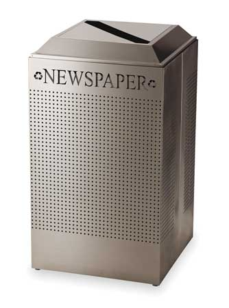 Recycling Container, Silver, 29 gal.