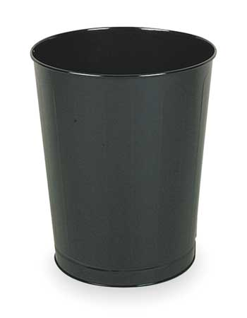 11 gal.  Round  Black  Trash Can