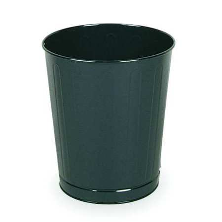 6.5 gal.  Round  Black  Trash Can