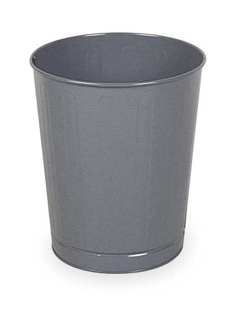 6.5 gal.  Round  Gray  Trash Can