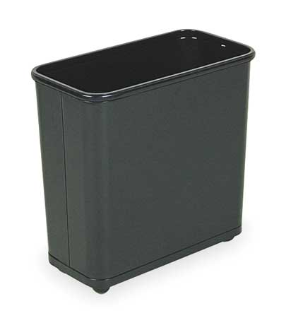 7.5 gal.  Rectangular  Black  Trash Can