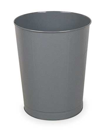 11 gal.  Round  Gray  Trash Can