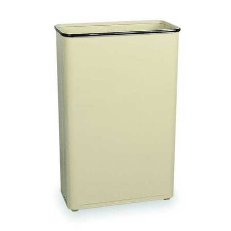 24 gal.  Rectangular  Almond  Trash Can