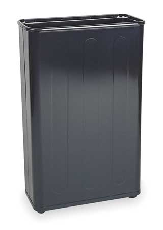 24 gal. Black Steel Rectangular Trash Can