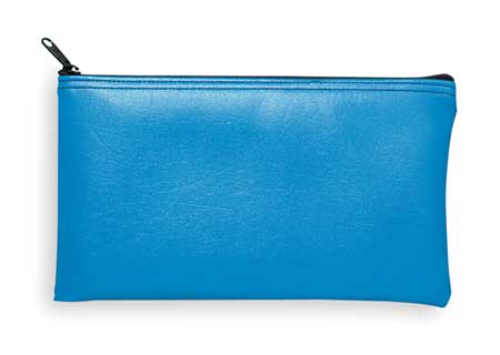 Zippered Cash Bag, 6x11, Blue