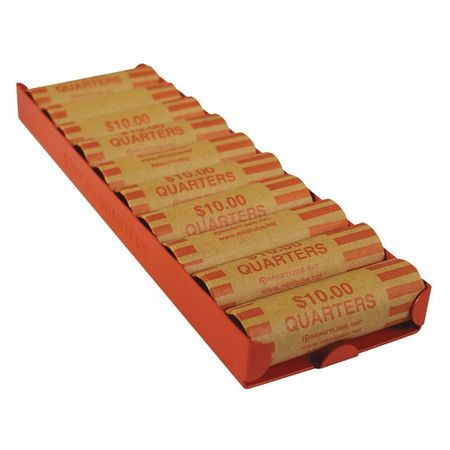Rolled Coin Storage Tray, Orange