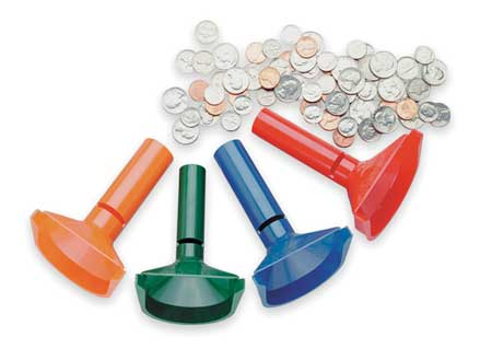Coin Counting Tubes, Plastic, PK4