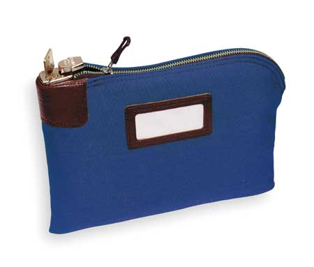 Night Deposit Bag, 8-1/2x11x1/2, Blue
