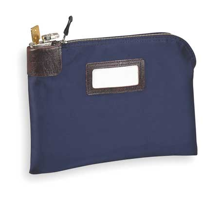 Night Deposit Bag, 8-1/2x11x1/2, Navy