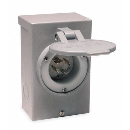 Outdoor Power Inlet Box, 30 Amps