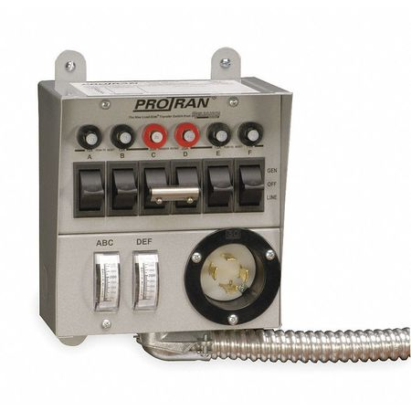Manual Transfer Switch, 60A, 125/250V
