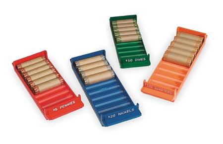 Rolled Coin Storage Tray Set, PK4
