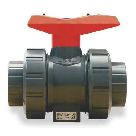 "1-1/2"" Socket PVC Ball Valve Inline True Union"