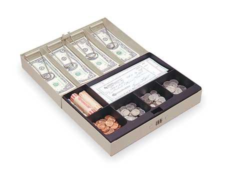 Cash Box, Sand, 11-1/4x7-1/2x3-1/8