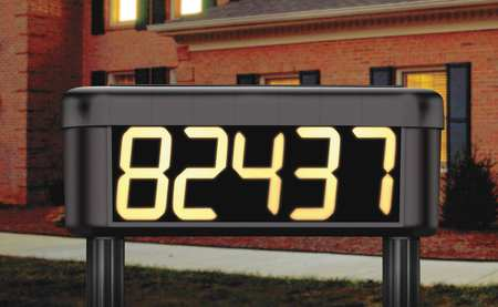 Solar Lighted House Number Sign