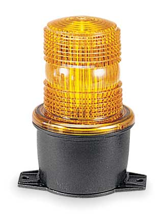 Low Profile Warning Light, LED, Amber, 120V