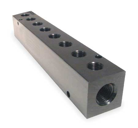 Manifold, Metal, NPT, 7-3/8 In. L