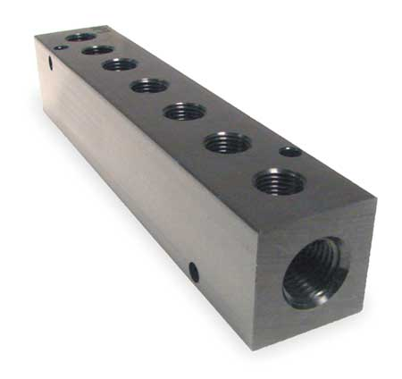 Manifold, Metal, NPT, 7-3/4 In. L