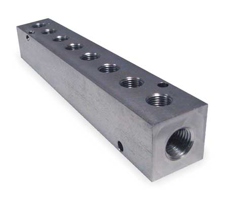 Manifold, Stainless Steel, NPT, 6-1/4 In. L