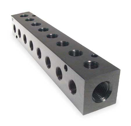 Manifold,  90, Metal, NPT, 3/8 In.