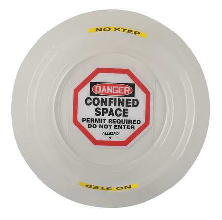 Danger Sign, 4In, BK and R/WHT, ENG, Text