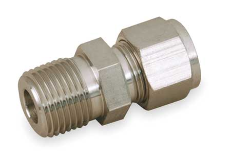 "3/4"" x 1/2"" A-LOK x MNPT SS Male Connector"