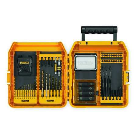 "Screwdriver Bit Set, 65 Pieces, 1/4"" Shank"
