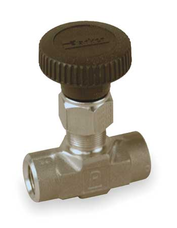 Needle Valve, Straight, 316 SS, 1/4 In, FNPT