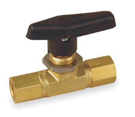 "3/8"" FNPT Brass Mini Ball Valve Inline"